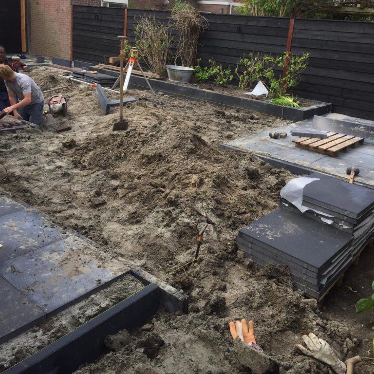 grondwerk wortels verwijderen straatwerk verwijderen